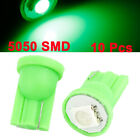 10 Pcs T10 194 168 W5W Green 5050 1-SMD LED Auto Dashboard Light Bulbs 12V