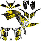 DFR FOLD GRAPHIC KIT YELLOW SIDES/FENDERS 13-NEWER YAMAHA RAPTOR RAPTOR700 700