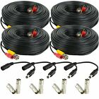 Amcrest 60 Foot BNC Coaxial Cable for CCTV Security HDCVI Camera Systems 4-PACK