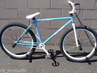 """2016 R4 BLUE & WHITE 26"""" BMX FREESTYLE CRUISER BICYCLE OLD SCHOOL WITH PEGS"""