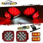 LED Submersible Trailer boat Tail Turn Stop Side marker Clearance Light Kit+wire