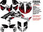 DFR FOLD GRAPHIC KIT BLACK/RED FULL WRAP 08-NEW HONDA TRX450R TRX 450 TRX450