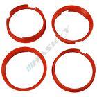 4 Centering Rings 72,6 - 67,1 for Opel Insignia Hyundai Kia Adwanti Alloy wheels