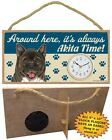 Akita CLOCK-Around here it's always (Breed) Time-Hang or Easel Back