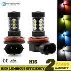 2X H16 80W LED Fog DRL Driving Car Head Light Lamp Bulbs White Super Bright
