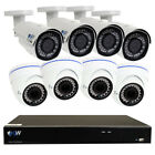 8 Channel 4k NVR + 4 x 5MP Dome + 4 x 4MP Bullet IP Security Camera System 4T HD