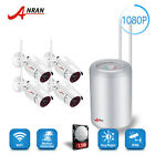 1TB 4CH NVR Wireless 1.0 Megapixe Night Vision  Outdoor Security Camera System