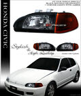 BLACK HEADLIGHT+SIGNAL PARKING CORNER SM AM YD 1992-1995 CIVIC 2D 3D COUPE/HATCH