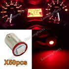 50pcs Ba9s LED Bulb Red Gauge Cluster Instrument Panel Light 53 57 1895 Lamp