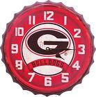 Bottle Cap Wall Clock University Of Georgia Bulldogs
