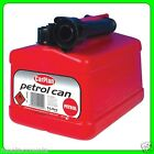 * Pack of 3 * 5Lt Red Plastic Fuel Can With Pouring Spout [TPF005] Tetrosyl