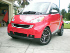 2009 Smart Passion Coupe Passion 2009 Smart Fortwo Rally Red with Metallic Silver Passion Coupe 2-Door 1.0L