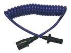 RV Blue Ox BX88206 7 to 6 Wire Round Coiled Electrical Cable Kit