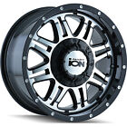 17x8 Black Alloy Ion Style 186 8x6.5 & 8x170 +10 Rims Open Country AT II