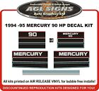 1994 1995 MERCURY 90 hp  Outboard Decals reproduction 125 hp also