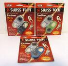 SWISS TECH Carabiner Micro Aluminum Light Keychain Backpack Survival 3 2-pks (6)