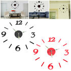 Modern Acrylic 3D Numbers Mirror Wall Sticker Clock Decal Home Room Decoration