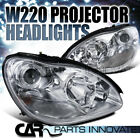 Benz 00-05 W220 S-Class S430 S500 S600 S55 AMG Chrome Clear Projector Headlights