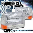 1999-2004 F250 F350 F450 Excursion Clear Headlights+Corner Parking Lamp+Amber