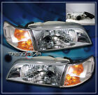 93-97 TOYOTA COROLLA CRYSTAL HEAD LIGHTS+CORNER SIGNAL LAMPS JDM CHROME 94 95 96