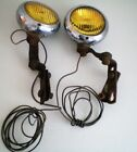 Vintage Old Car Fog Lamps Lights Set Of Two Custom Car Rat Rod Classic Auto Lamp