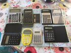 Lot Of 8 Handheld Electronic Calculators Pre-owned FREE SHIPPING IN US