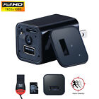 32GB HD 1080P Mini USB Spy Camera WALL Charger Adapter Plug Nanny Camcorder UX-8