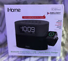 iHome FM Dual-Alarm Clock Radio,UBS, with Apple Watch Charger iWBT400G New