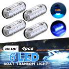 4pcs 12V LED Underwater Pontoon Marine Yacht Boat Transom Light High Intensity