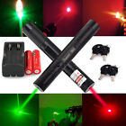 Military 532nm Green Laser Pointer +650nm Red Pen Visible Light + 18650 +Charger