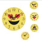 Silent Sweep Emoji Emoticon Clock Bell Desk Creative Digital Wall Mounted Clock