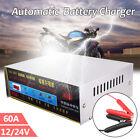 Digital 60AH DC 12V 24V Car Motor Van Smart Battery Charger Booster Pulse Repair