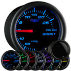 52mm GLOWSHIFT TINTED 7 COLOR TURBO BOOST PSI GAUGE KIT FOR 02-06 WRX STI