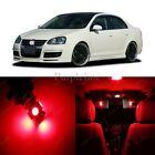 11 x Ultra Red LED Interior Light For 2005 - 2010 Volkswagen VW Jetta MK5