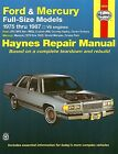 Ford LTD, Custom 500, Crown Victoria, Mercury Marquis, etc. Repair Manual 1975-1