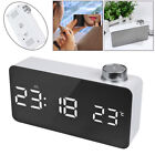Alarm Clock Digital LED Mirror Clock USB & Battery Operated 12H/24H Display New