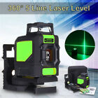 3D Green Laser Level Self Leveling 5 Lines 360° Horizontal&Vertical Cross DY