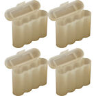 4 WHITE AA AAA BATTERY BATTERY PLASTIC STORAGE CASE HOLDER BOX