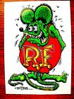 """Quality RAT FINK  4"""" Decal Hot Rod Sticker Muscle Car Street Drag Racing GRN"""