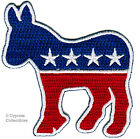 DEMOCRAT BIKER PATCH - OBAMA ELECTION PATCH new EMBROIDERED IRON-ON donkey