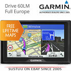 Garmin Drive 60LM│6'' GPS Sat Nav│Lifetime Map Updates UK & Europe│Driver Alerts