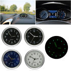 1pcs Mini Luminous Car Auto Air Vent Stick-On Clock Interior Quartz Analog Watch