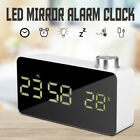 Large LED Alarm Clock Backlight Mirror Temperature Snooze Desktop Decor Gift