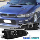 Fit 95-01 Subaru Impreza Black Retro Style Projector Headlights Head Lamps Pair