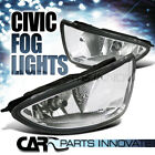 Fit Honda 04-05 Civic 2/4Dr Clear Lens Fog Driving Lights Kit+Switch