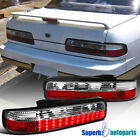 For 1989-1994 240SX S13 Coupe Replacement LED Tail Lights Brake Lamps Red Clear