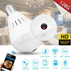 Mini Security IP Camera 360° Degree Panoramic Hidden Wifi Camera Cam Light Bulb