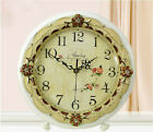 A32 European Style White Wooden Glass Mute Decoration Table Clock 27.5CM A