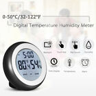 Round Digital LCD Thermometer Hygrometer Temperature Humidity Tester Indoor