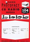 1976 CB Radio Service Photofacts ROMAR RYSTL CBR-1800 SHARP 500UB Midland 13-852